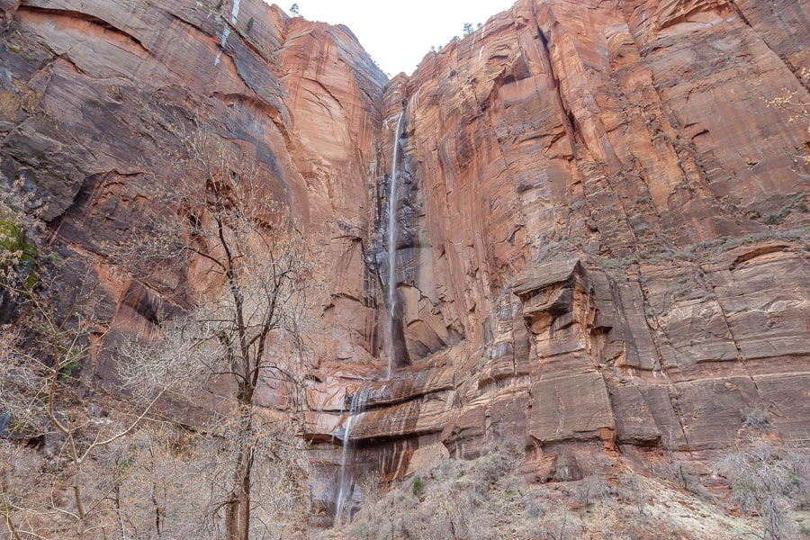 Wasserfall im Zion Nationalpark
