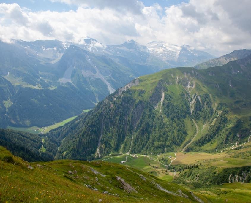 Berge in den Hintertuxer Alpen