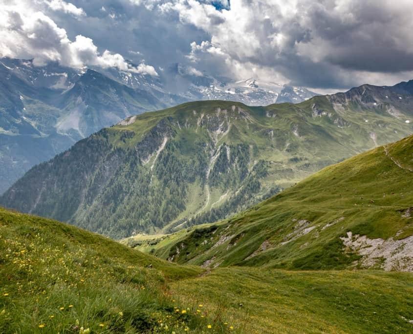 Berge im Hintertuxer Tal