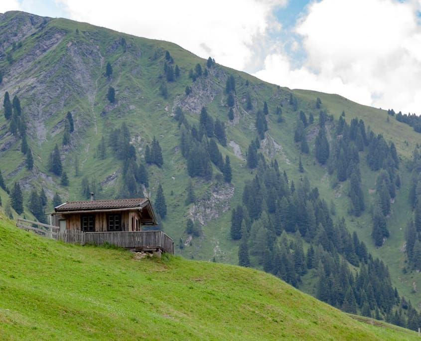 Heuhütte in den Hintertuxer Alpen