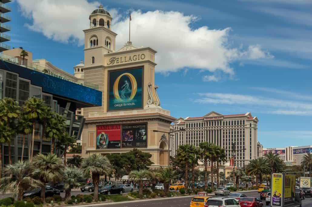 eines der bekannten Casinohotels in Las Vegas