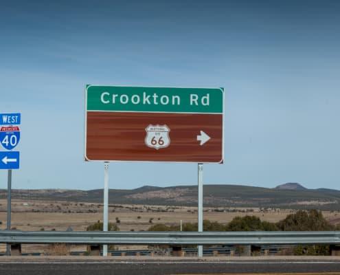 Hinweistafel zur hiostorischen Route 66 in Arizona