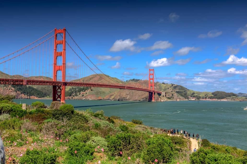 San Fransisco - Golden Gate Bridge im Sonnenschein
