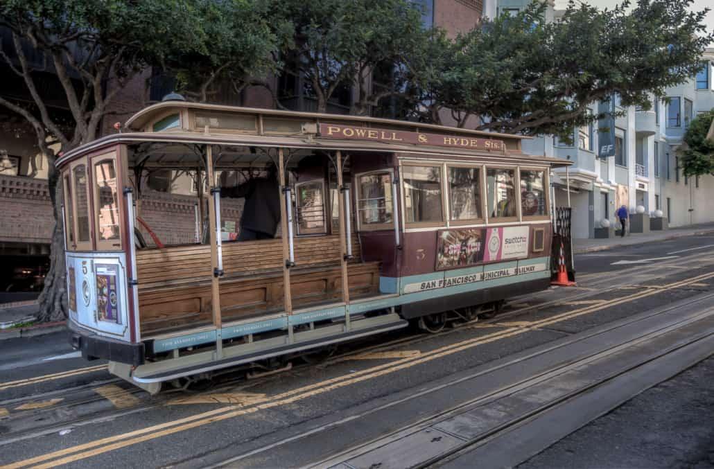 Ein der alten Cable cars in SF