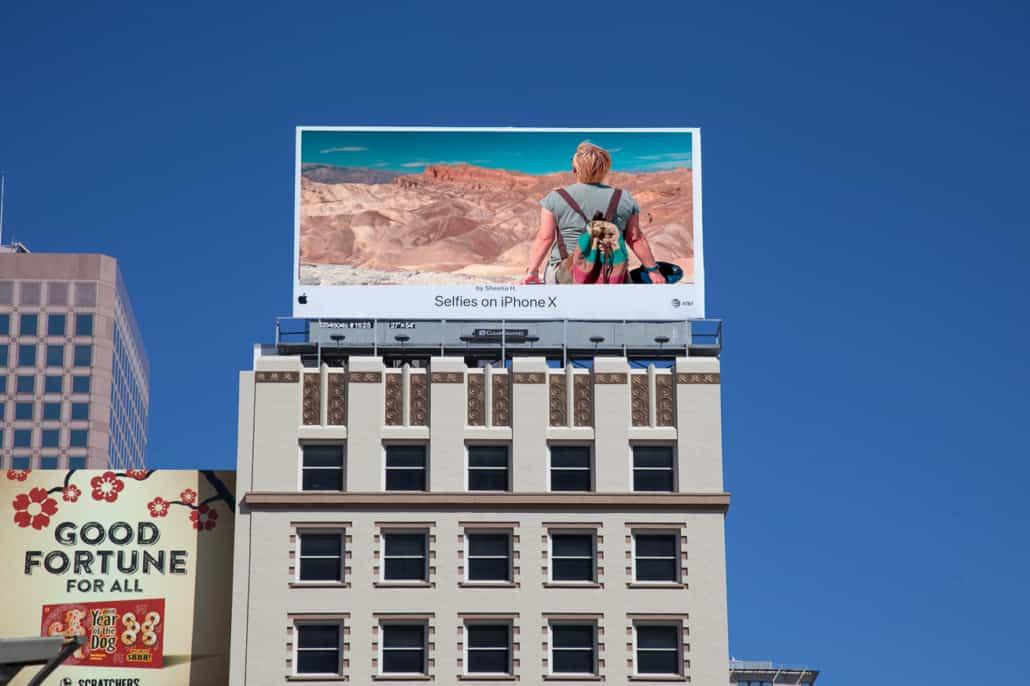 iPhone Werbung am Union Square