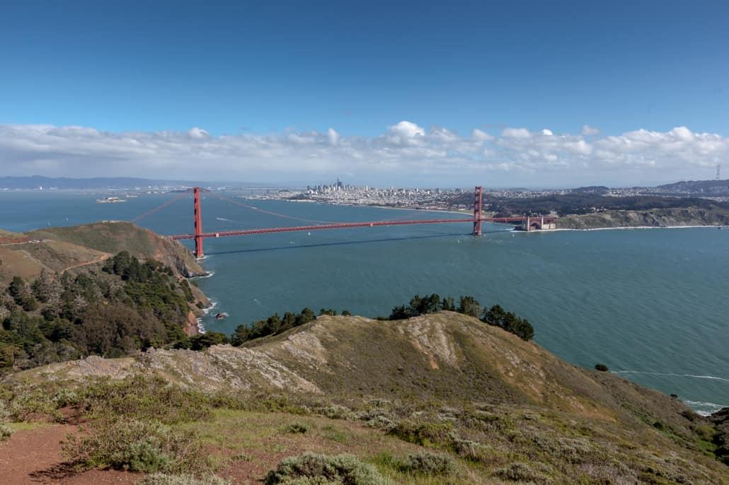 Blick vom Observation Deck auf die Golden Gate Bridge