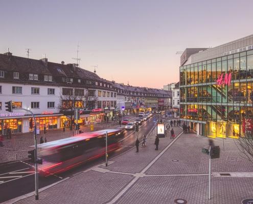 Blick auf Sandstraße und Kölner Tor