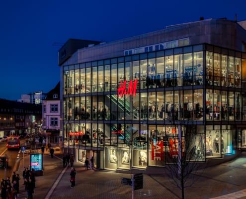 Siegen Sandstraße mit dem Modegeschäft H&M